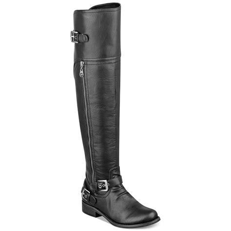 guess the knee boots g by guess s hektor the knee flat boots in