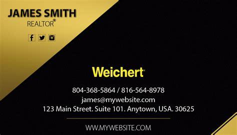 weichert business card template weichert realtors business cards 19 weichert business