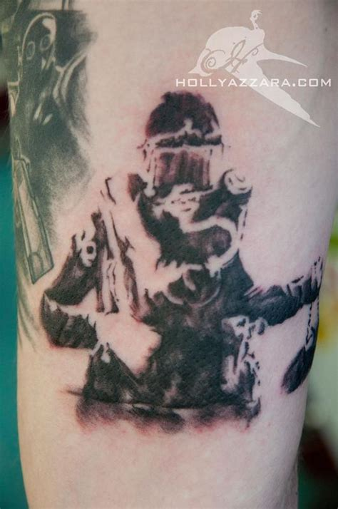 little johns tattoo banksy scuba by azzara tattoonow