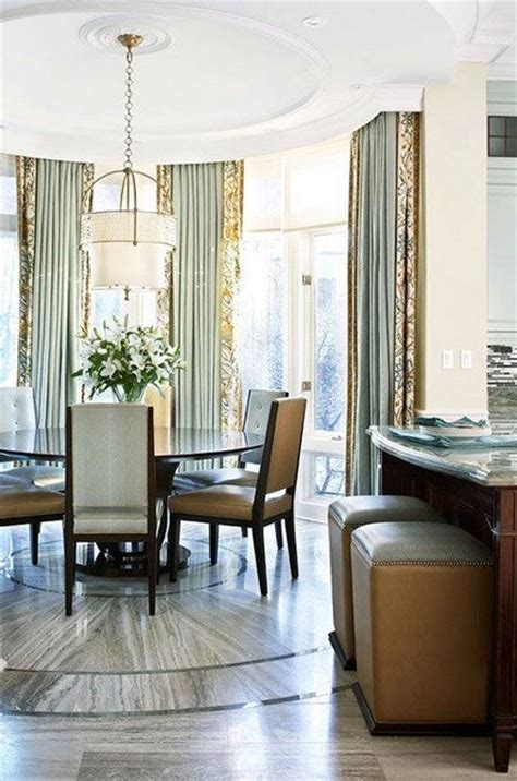Window Treatments For Floor To Ceiling Windows by Banded Floor To Ceiling Drapes For Bay Window Window
