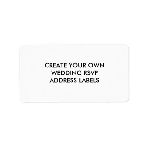 Design Your Own Label Products - create your own address labels for rsvp envelopes zazzle