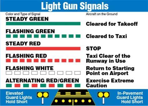 airport tower light signals atc light gun signals images