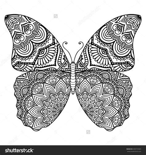 tattoo oriental mandala butterfly vintage decorative elements with mandalas