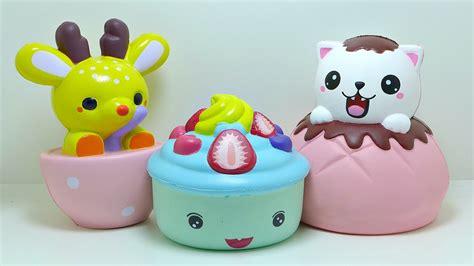 Squishy Jumbo Cupcake jumbo puff cat cupcake teacup deer squishy