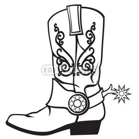 Drawing Cowboy Boots Bb Tatts Drawing Of A Cowboy Boot Printable