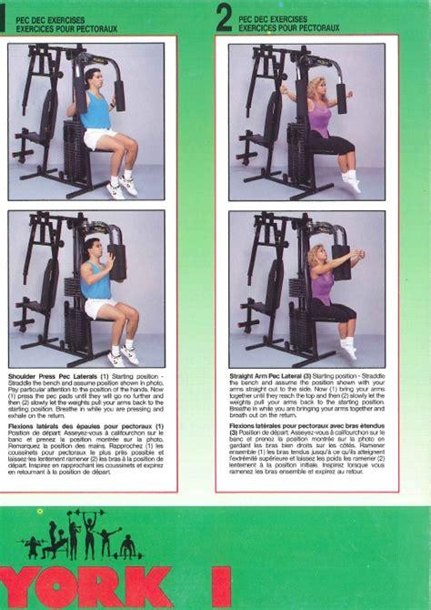 york mega max 3001 workout chart