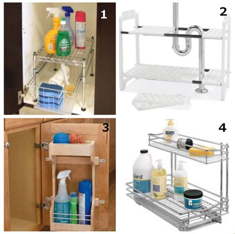 sink roll out storage diy home home sink storage solution