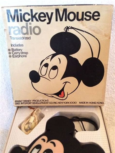 Mickey Headset disney walt transistor radio headset mickey mouse