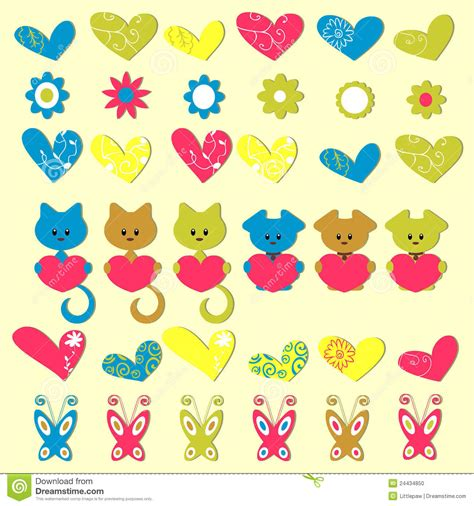 imagenes infantiles romanticas etiquetas engomadas coloridas rom 225 nticas lindas foto de