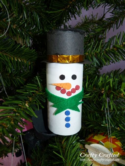 Toilet Paper Roll Snowman Craft - crafty crafted 187 archive crafts for children