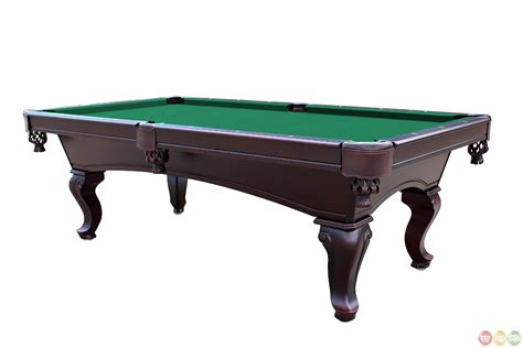 green 8 foot style 3 slate pool table