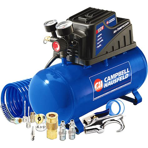 cbell hausfeld 3 gallon 110psi air compressor 11pc accessory set bundle ebay