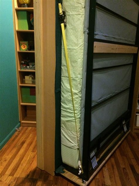 billy bookcases transform into murphy bed ikea hackers