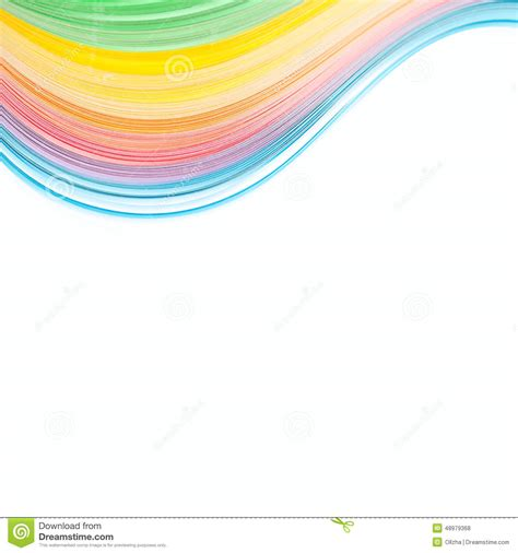 Abstract Isolated Waves Border Background Stock Photo Design In Colored Paper L