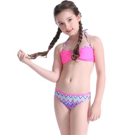 child girl swimwear bikinis high quality teen girl swimwear swimsuit nowsel
