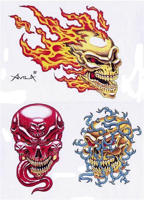 flash art tattoo designs free skull tattoos