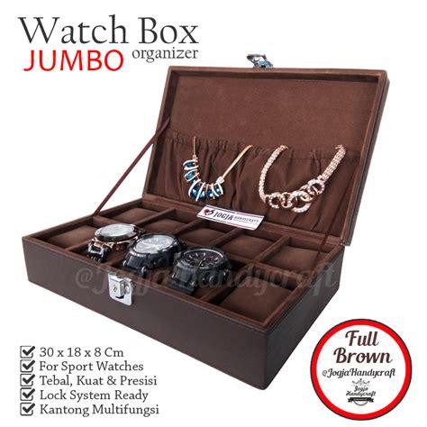 Kotak Jam Tissot Exclusive bj10excbrw exclusive box with lock kotak tempat jam tangan brown elevenia