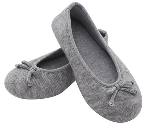knitted house slippers hometop women s elegant cashmere knitted memory foam indoor ballerina house slippers