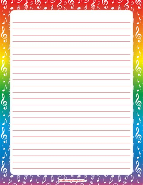 song writing paper stationery and writing paper coisas para usar