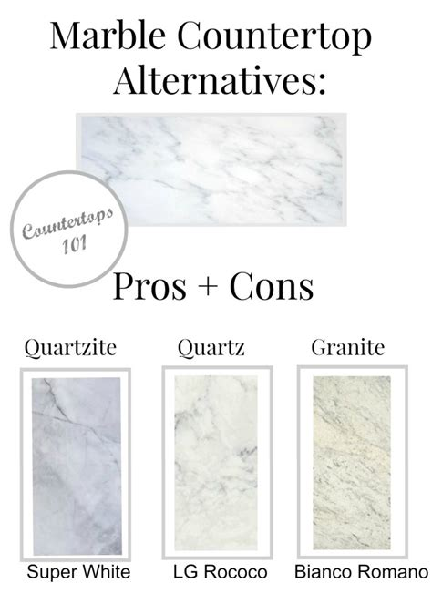 marble pros marble countertop alternatives pros cons