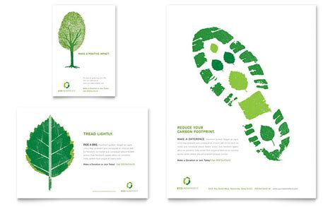 environment template environmental non profit flyer ad template word