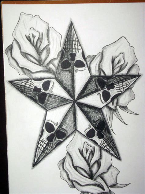 rose and star tattoo and roses designs cool tattoos bonbaden