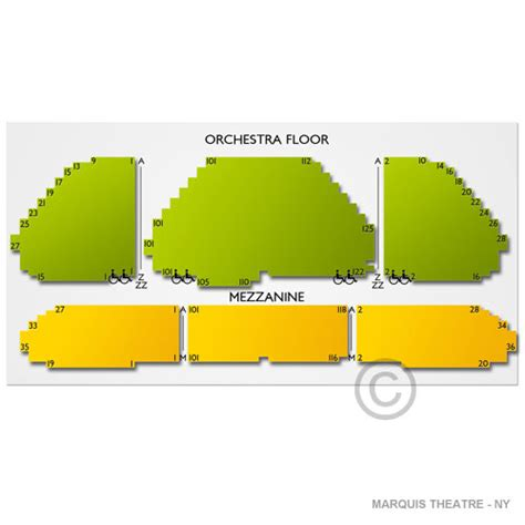 marquis theatre seating map marquis theatre ny seating chart seats