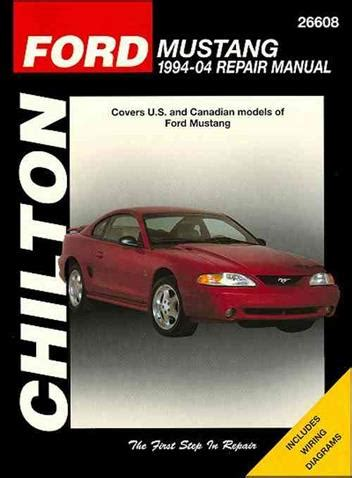 ford mustang 1994 2004 chilton owners service repair manual 1563926490 9781563926495 chilton