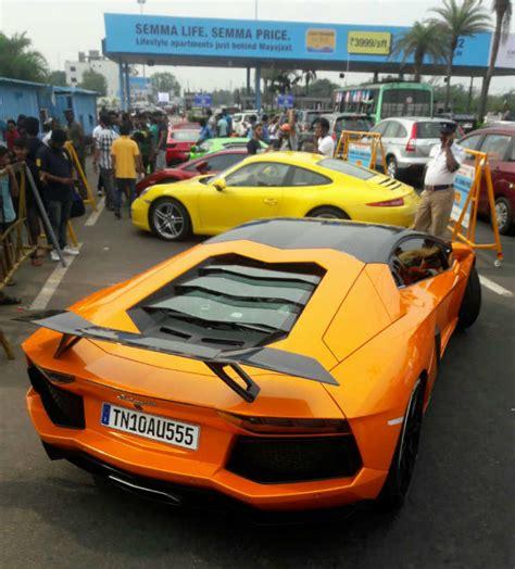 Porsche Arrest Chennai Cops Seize Lamborghinis Mercedeses