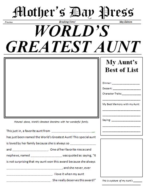 student newspaper template s day made easy 3 gifts scholastic