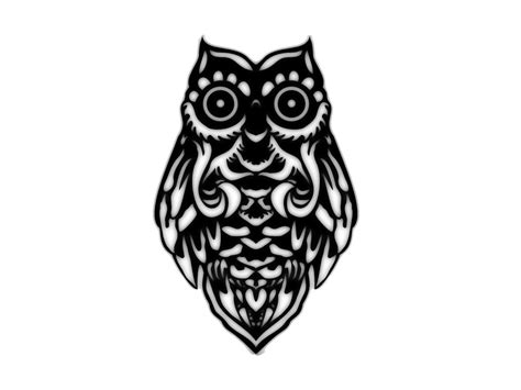 tribal owl tattoo pictures simple tribal owl