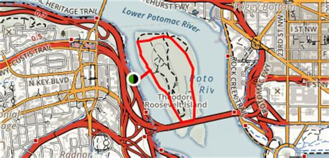washington dc loop map theodore roosevelt island outer loop district of