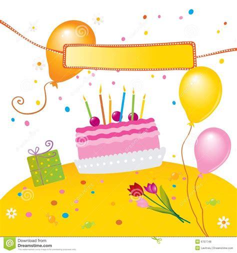 clipart compleanno bambini scherza la festa di compleanno fotografie stock libere da