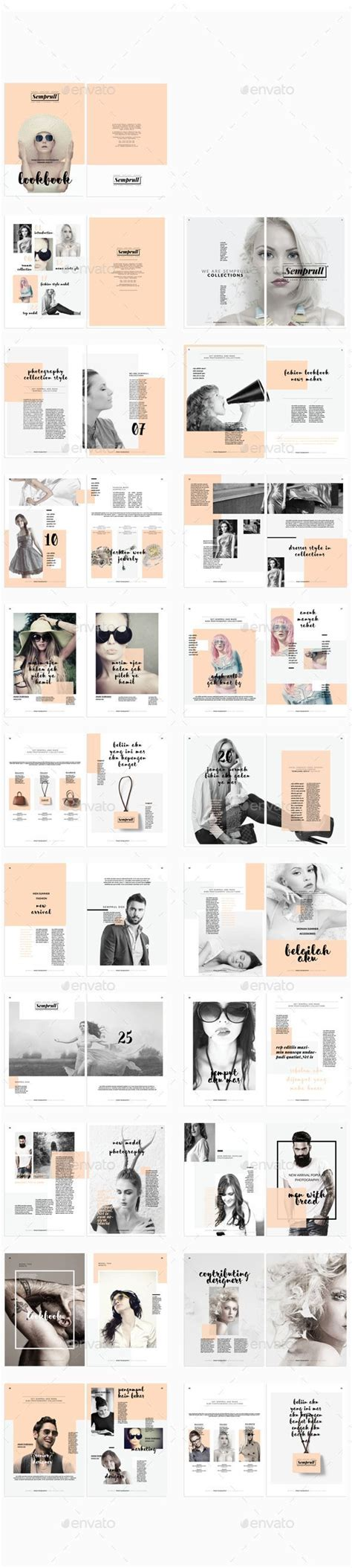 Lookbook Layouts Editorial And Layout Design Zine Template Indesign