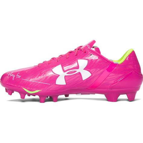 pink football shoes lyst armour s ua spotlight football cleats