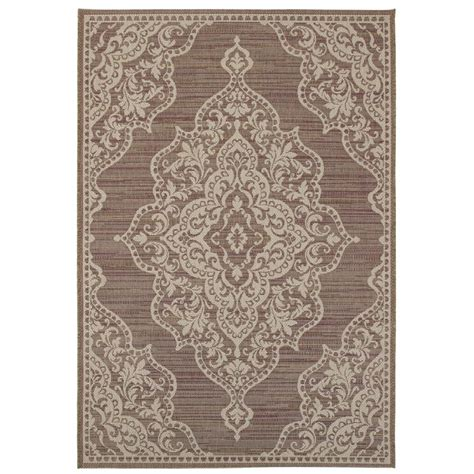 Home Decorators Outdoor Rugs by Home Decorators Collection Cecil Plum 5 Ft 3 In X 7 Ft