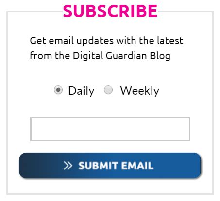 you are subscribed to email updates from introducing data insider the new digital guardian blog