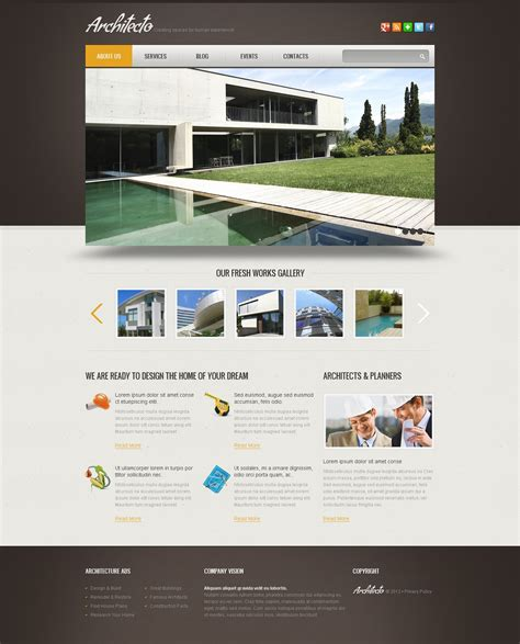 Simple Construction Wix Website Template 46256 Simple Website Design Template