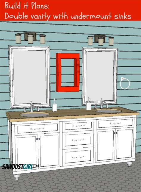 vanity with center drawers free plans sawdust 174
