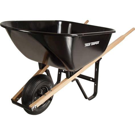 true temper 6 cu ft steel wheelbarrow s6but25 the home