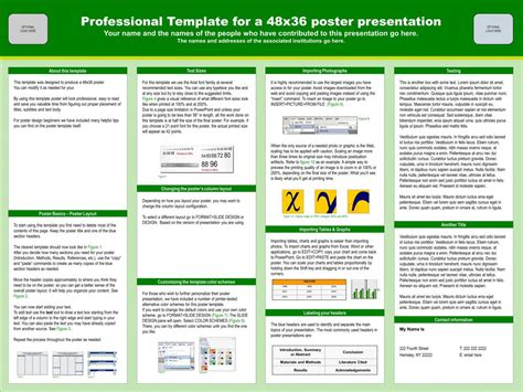 powerpoint poster templates 36x48 images templates