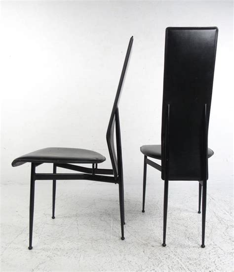 Contemporary Italian Dining Chairs Set Of Contemporary Modern Italian Leather Dining Chairs By Fasem For Sale At 1stdibs