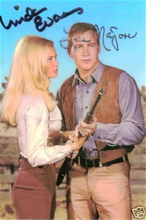 bona brothers hair show the big valley signed rp photo lee majors linda evans