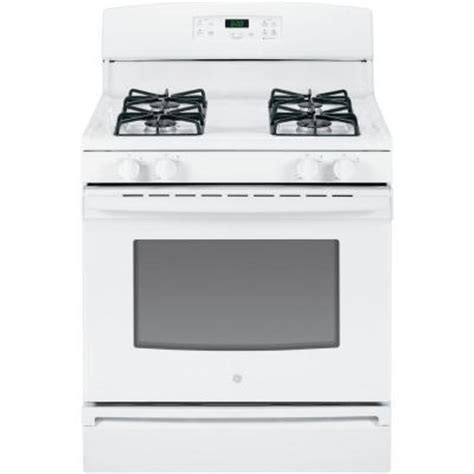 ge 4 8 cu ft gas range in white jgbs60defww the home depot
