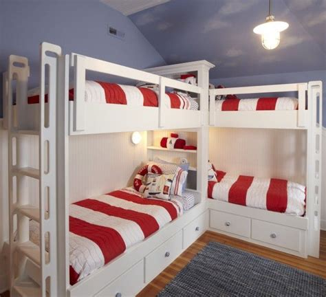 pin  jennifer goins  boys bedroom corner bunk beds