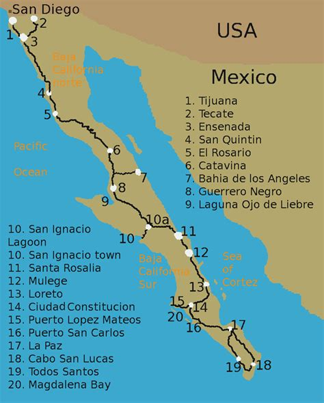 baja map mexico baja peninsula mexico map