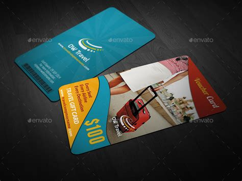 Vacation Gift Cards - travel gift voucher card template vol 13 by owpictures graphicriver