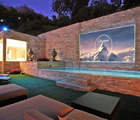 backyard theater screen 15 wonderful outdoor home theaters home design and interior