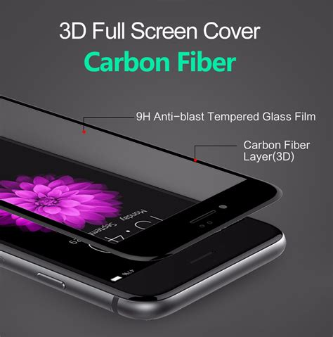 Iphone 6 Plus Anti Gores 3d Screen Carbon Fiber 1 bakeey 3d soft edge carbon fiber tempered glass screen protector for iphone 6 plus 6s plus
