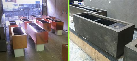 Planter Box Melbourne by Arintji Restaurant H2o Designs
